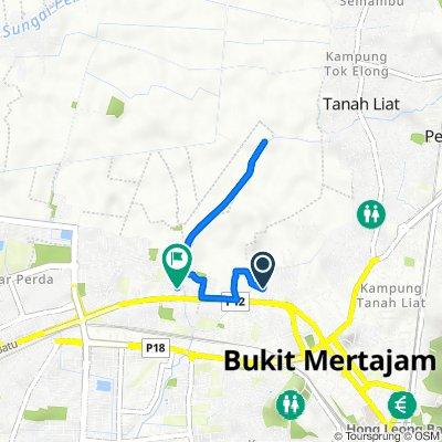 Lintang Sunway Wellesley 1 17, Bukit Mertajam to Jalan Permatang Rawa 996, Bukit Mertajam