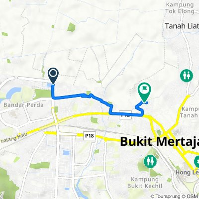 Lorong Perda Barat 3 Lot 731 C, Bukit Mertajam to Lintang Sunway Wellesley 3 32, Bukit Mertajam