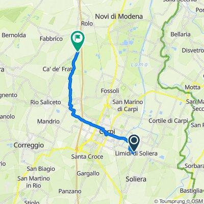 Da Via Martiri Partigiani 12–28, Limidi a Via Argine Canale, Rio Saliceto