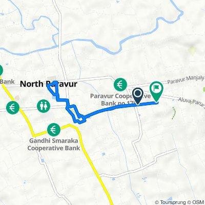 North Paravur to Aluva - Paravoor Road, Mannam