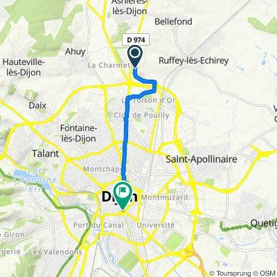 De 40–42 Avenue Françoise Giroud, Dijon à 76 Rue Chabot-Charny, Dijon