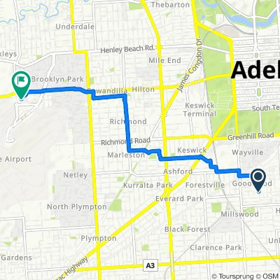 Hardy Street 19, Goodwood to Unnamed Road, Adelaide Airport