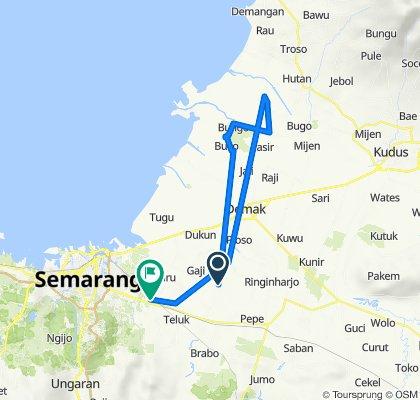 Pamongan, Guntur to Jalan Palapa Indah II 28, Kecamatan Mranggen