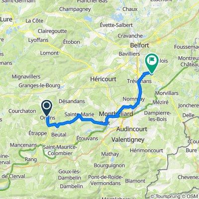 Onans > Gare TGV Belfort-Montbéliard