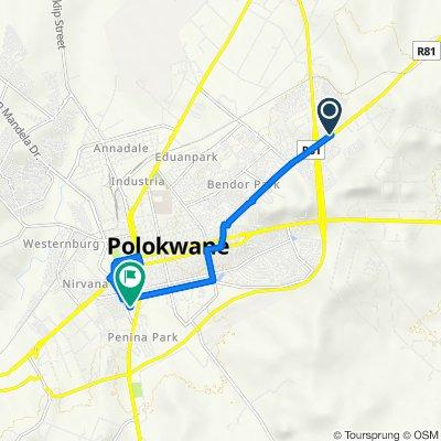 Route to 5 Basil Street, Polokwane