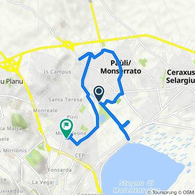 Strada di Terramaini, Cagliari to Via del Colle, Cagliari