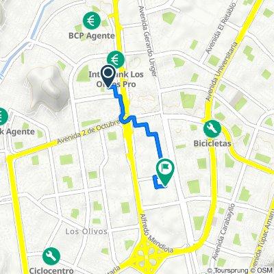 De Calle la Santidad 143, Los Olivos a San Andres, Los Olivos
