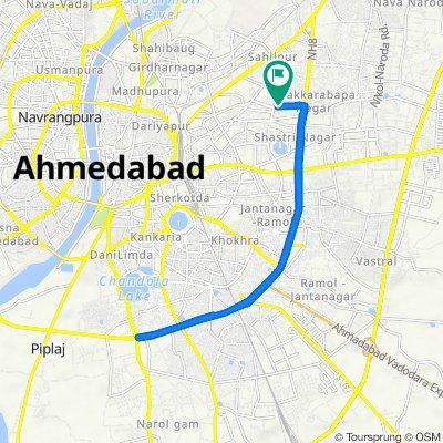 Route to A/68, Anjana Society Gate 2 Road, Ajanta Society, Ahmedabad