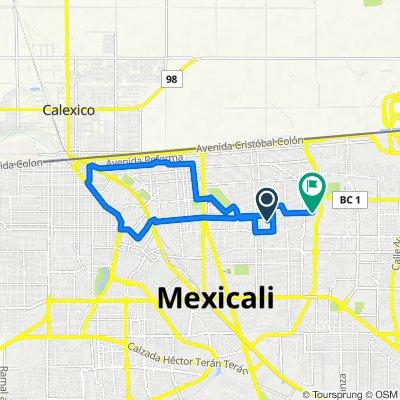 De Avenida Ignacio Comonfort 1012–1078, Mexicali a Avenida Presidente Valentín Gómez Farías 1747, Mexicali