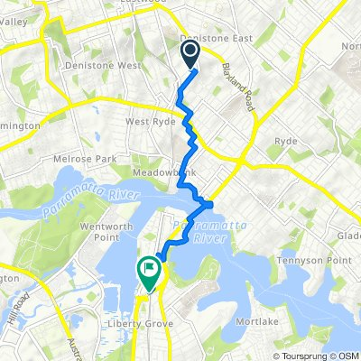 8 Marlow Lane, Denistone to Homebush Bay Drive, Rhodes