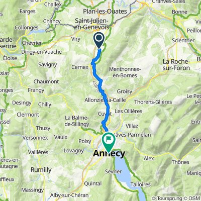 Grand Rue 288, Beaumont to Quai Eustache Chappuis 3, Annecy