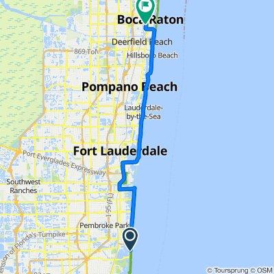 18050 Collins Ave, Sunny Isles Beach to 201 W Palmetto Park Rd, Boca Raton