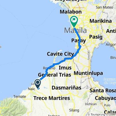 Route to 849 Alvarado Street, Manila