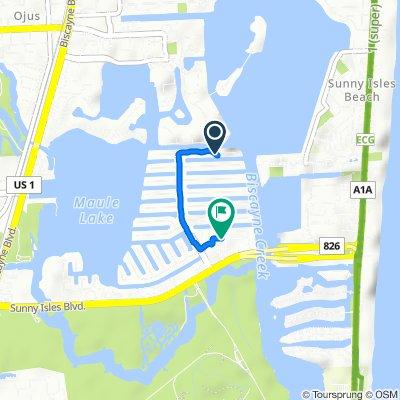 3770 NE 171st St, North Miami Beach to 3805 NE 163rd St, North Miami Beach