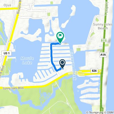 3805 NE 163rd St, North Miami Beach to 3745 NE 171st St, North Miami Beach