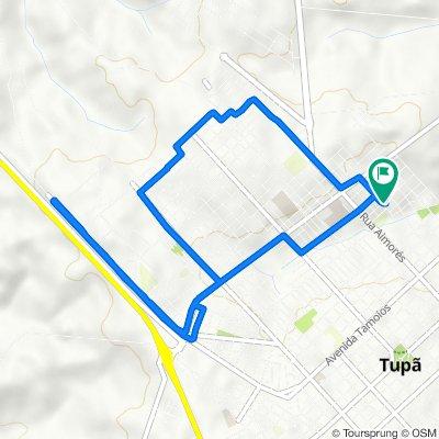 De Rua Eurico da Silva Moraes, 82–124, Tupã a Rua Kossey Yamaki, 107–195, Tupã