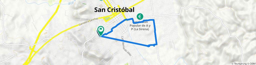 De Calle 5, San Cristóbal a Calle 27 de Febrero, San Cristóbal