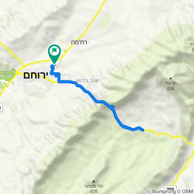 Yeruham, Crater
