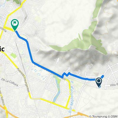 De Calle Cerro de los Eslabones 8, Tepic a Boulevard Luis Donaldo Colosio, Tepic