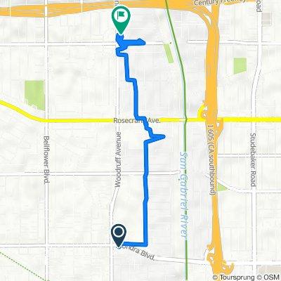 Alondra Boulevard 10216, Bellflower to Woodruff Avenue 13230 1/2, Downey