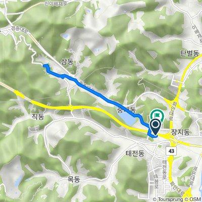 Route from Gwangnam-dong 16-22, Gwangju-si