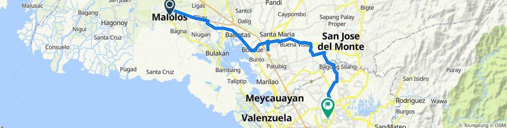 Kapitan Kiko Street 024, Malolos to ACF Road 190, Quezon City