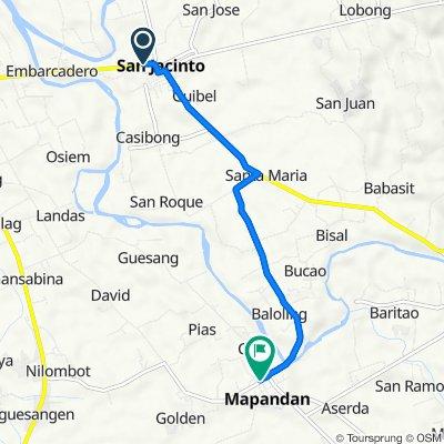 Mangaldan-San Jacinto Highway, San Jacinto to Pandan Avenue, Mapandan