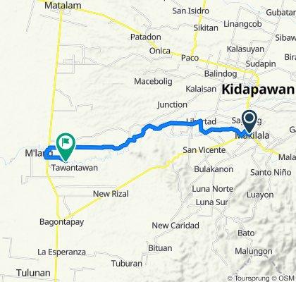 Davao - Cotabato Road, Makilala to Unnamed Road, M'lang