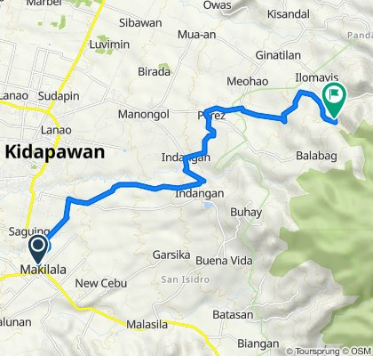Davao - Cotabato Road, Makilala to Unnamed Road, Kidapawan City