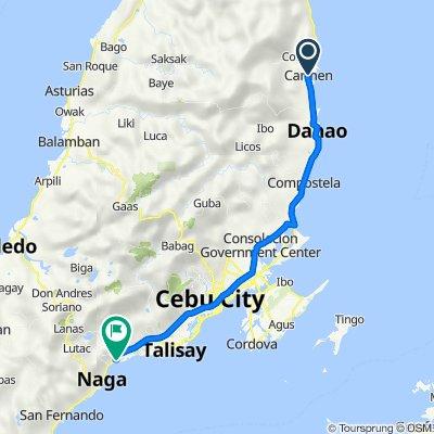 Route from Cebu North Road, Carmen