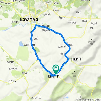 Unnamed Road, Yeruham to Unnamed Road, Yeruham