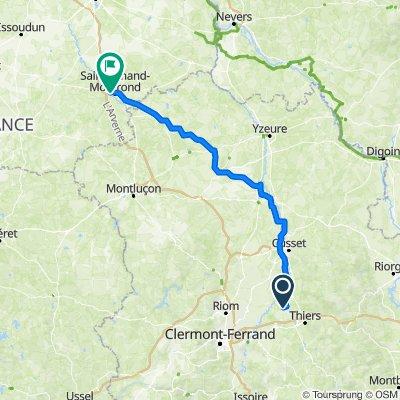 De Chez Thuret 5, Crevant-Laveine à Route de Culan 42, Orval