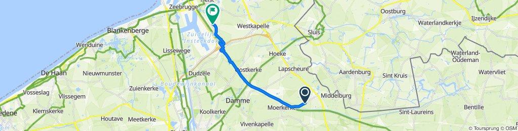 Hoornstraat 41, Damme naar Ramskapellestraat 8, Knokke-Heist