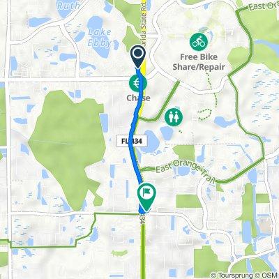 4232 N Alafaya Trail, Orlando to 3133 N Alafaya Trail, Orlando