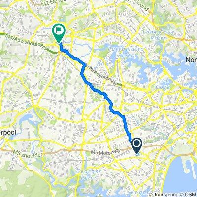 9 New Illawarra Road, Bexley North to 21R Darcy Street, Parramatta