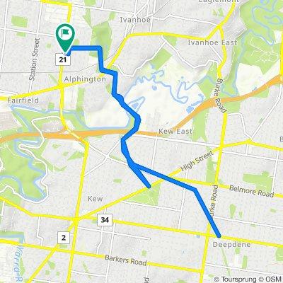 80 Grange Road, Alphington to 86A Grange Road, Alphington