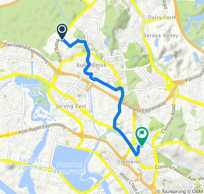 Blk 439C, Singapore to Clementi Avenue 4 373, Singapore