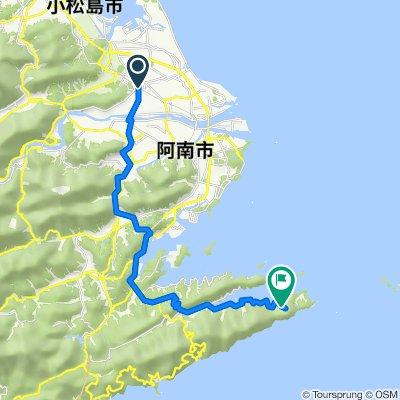 4-1, Hanourachonakanosho Nakare, Anan to 60-2, Tsubakicho Funase, Anan