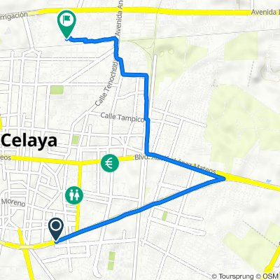 De Avenida Constituyentes 201A-C, Celaya a Paseo de La Alameda 131, Celaya