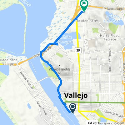 Route from Curtola Parkway 3, Vallejo