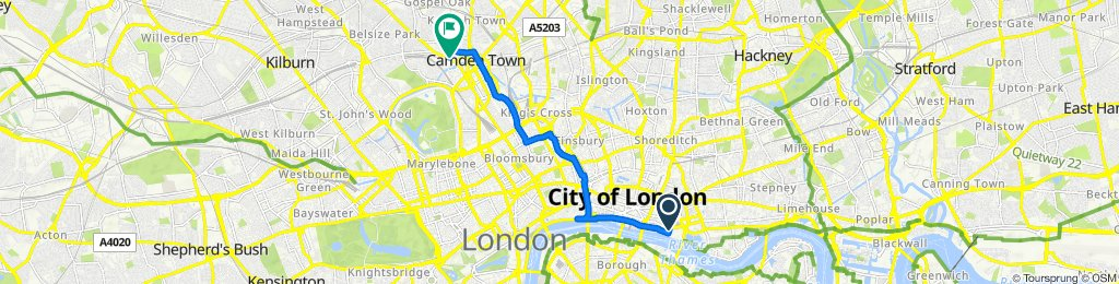 London - Tower of London to Camden.