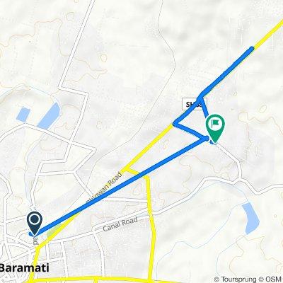 Patas Road, Baramati to Jalochi New Vasti, Baramati