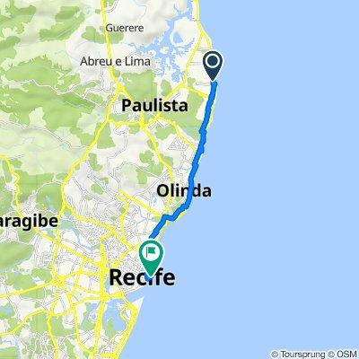 De Rua Jose Francisco dos Santos, 278, Paulista a Avenida Alfredo Lisboa, Recife