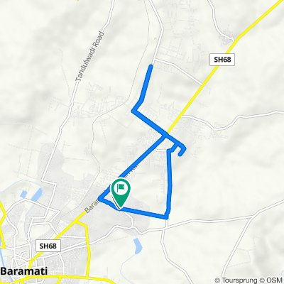 Road Number 1, Baramati to Jalochi New Vasti, Baramati