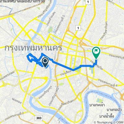 Scooter trip Chao Phraya