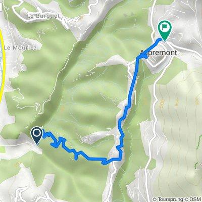 Itinéraire vers 19–69 Route de Tourrette Levens, Aspremont