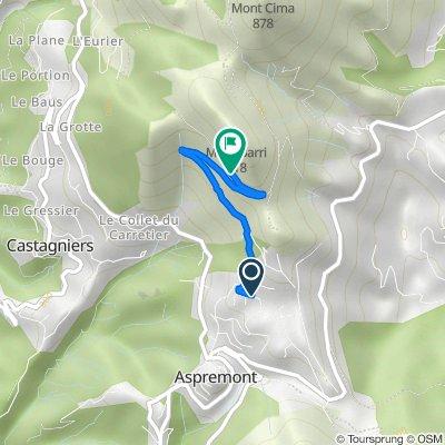 Itinéraire à partir de 838 Avenue Caravadossi, Aspremont