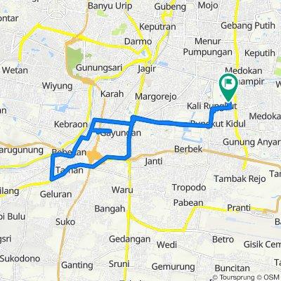Jalan Baruk Barat V 41, Kecamatan Rungkut to Jalan Baruk Barat V 41, Kecamatan Rungkut