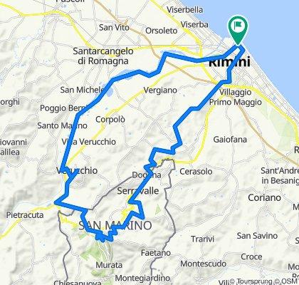 Rimini - San Marino (anello) 60km ca