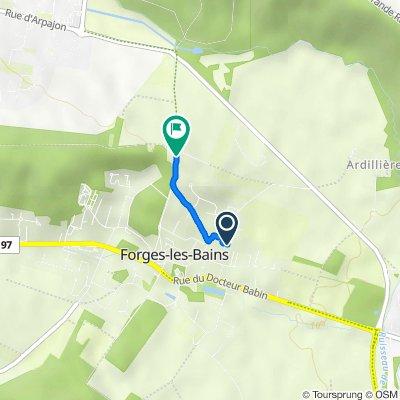 De 21 Rue des Plants, Forges-les-Bains à 11–13 Rue du Jeu de Paume, Forges-les-Bains